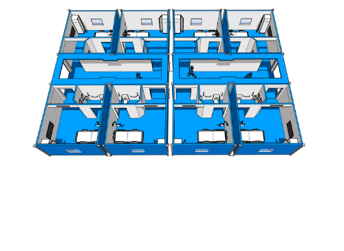 MODULAR ISOLATION ROOMS, NEGATIVE PRESSURE HOSPITAL ROOMS (INFECTUOUS VIRUS) OR POSITIVE PRESSURE (ONCOLOGY)